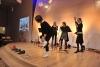 """2016 In den Schuhen der Epochen """"bis jetzt!"""" mit dem Trio b.hertzt / Foto: M. Türkis"""
